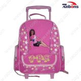 Back to School Cute Girl Rolling Bag with Wheels