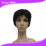 100% Human Brazilian Virgin Remy Hair Short Machine Made Wig (HW-070)