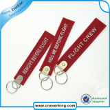 Remove Before Flight Embroidery Keychain with Custom Design