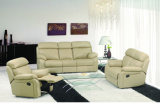 High Back Leather Recliner Sofa Set