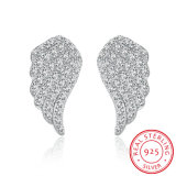 925 Sterling Silver Flying Wings Zircon Earrings