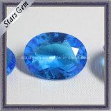 Beautiful Aqua Blue Oval Shape Crystal Glass Beads