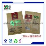 Popular Side Gusseted Doy Pack Kraft Paper Tea Packaging Bag