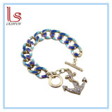 Blue Navy Anchor Bracelets with Cystals