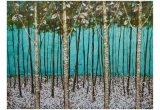 Beautiful Handmade Abstract Trees Painting for Wall Decoration (LH-056000)