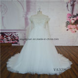 New Design Crystal Long Sleeve Wedding Dress