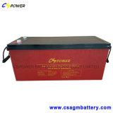 3years Warranty Rechargeable Solar Gel Battery 12V180ah Power Supply