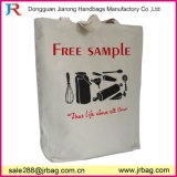 Promotion Screen Printed Logo Natual Canvas Handbag
