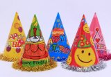 OEM Triangle Paper Lace Birthday Party Hat And Cap