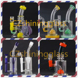 Colorful USA Decoration Glass Water Smoking Pipe with Nice Perc