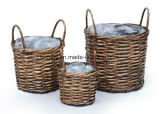 Rattan Wicker Handmade Garden Planter for Home and Garden