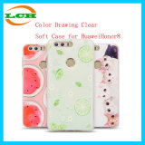 Color Drawing Clear Phone Case for Huawei Honor8