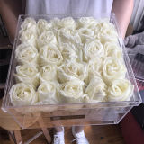 Hot Sale Clear Acrylic Preserved Rose Flower Box Case