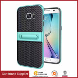 2017 New Woven Grain Protective Mobile Case with Kickstand Fuction