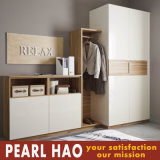 Simple Style Open Door White Melamine Bedroom Wardrobe