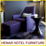 Fashionable Style Purple Chaise Lounge Chairs with Foot Rest