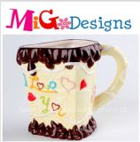 OEM Ceramic Valentine I Love You Mug Gift Personalities Canister