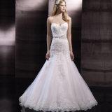 Strapless Bridal Gowns Dress Lace Beading Mermaid Wedding Dress Ld11546