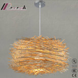 Modern Customized Birds Natural Rattan Pendant Light for Balcony