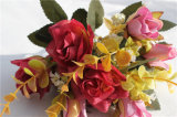 Cheap Bouquet Wedding Real Touch Silk Artificial Flower Rose