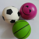 Smile Face Football Basketball Design PU Foam Antistress Toy Ball