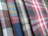 Yarn Dyed Twill Check Flannel Fabric