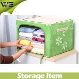 Homy Collapsible Fabric Covered Storage Boxes Organizer with Lid Zipper