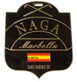 Naga Badge Soft Enamel with Epoxy Gold Plated