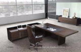 High Quality Black L Shaped Wooden Boss Executive Table (HF-SIG326)