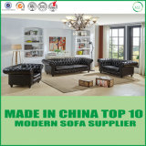 Chesterfiled Style Office Genuine Leather Sofa Set
