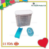 Pill Organizer Box Weekly Case With Pill Splitter Cutter