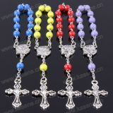 Handmade Delicate Spot Drilling Bead Decade Rosary Bracelet