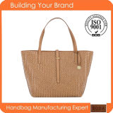 New Design Item Straw PU Women Fashion Tote Bags