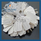 Recycled White Glossy Paper Jewelry Price Hang Tag