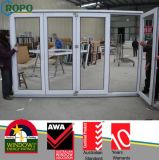 White Color and Heat Insulating Vinyl Folding Door with Glass