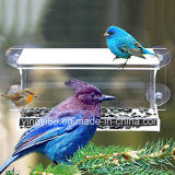 Large 100% Clear Acrylic Window Bird Feeder - with Strong Suction Cup and Beaufiful Packing
