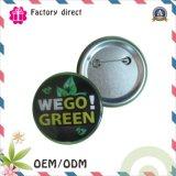 SGS RoHS High Quality Competitive Factory Print Tin Mertal Button Pin Bagde