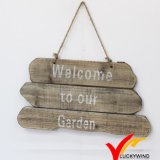"""Welcome to Our Garden ""Handmade Farmhouse Vintage Wood Sign"