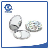 Customized Fashion Portable 70mm Compact Folding Metal Crystal Pocket Mirrors