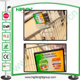 Shopping Trolley Plastic Display Holder with PVC
