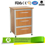 Three Drawers Wooden Hospital Bedside Cabinet with Competitive Price