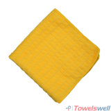 Yellow Microfiber Checkered Kitchen Dish Towel