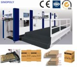 Fully Automatic Flatbed Creasing Die Cutting Machine with Stripping