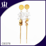 Eco Friendly Brass Hanging Tassel Earrings