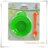 Childern Safe Portable Baby Spoon and Fork Baby Dinnerware Set 2015 Promotional Gift for Baby Care with a Bowl of (HA78041)