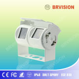 White Dual Lens Camera for Motor Home 95/120 Degree