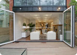 Multiple Openness Foldable Double Glass Aluminium Doors