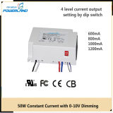 50W 0.6A/0.8A/1A/1.2A Dimmable LED Driver 5 Years Warranty