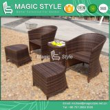 Leisure Wicker Sofa with Footstool and Cushion for Outdoor