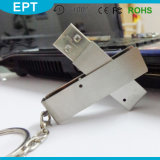 Metal Swivel Keychain Stick Shape USB Flash Drive (EM220)